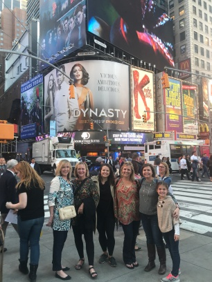 Six ladies in Times Square