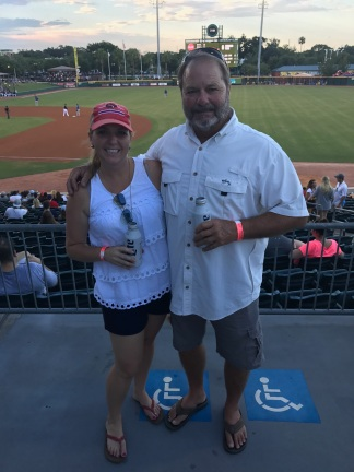 Cheering on the Jumbo Shrimp!