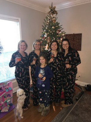 In our Christmas Jammies!